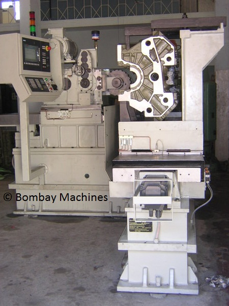 CNC WEB MILLING AND LOCK GROOVE MILLING MACHINE FOR V ENGINE BLOCK