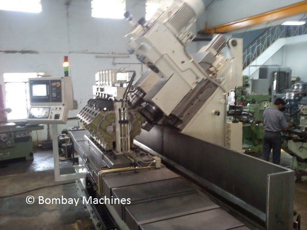 CNC HEAD FACE MILLING AND LINER BORING MACHINES FOR V ENGINE BLOCK